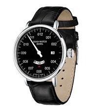 ZENO WATCH Einzeigeruhr GMT Quarz mit Datum