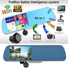 "Smartwild W840 Sat Nav HD 1080P 5.0"" Car Rear View Mirror GPS WIFI Dash Cam DVR"