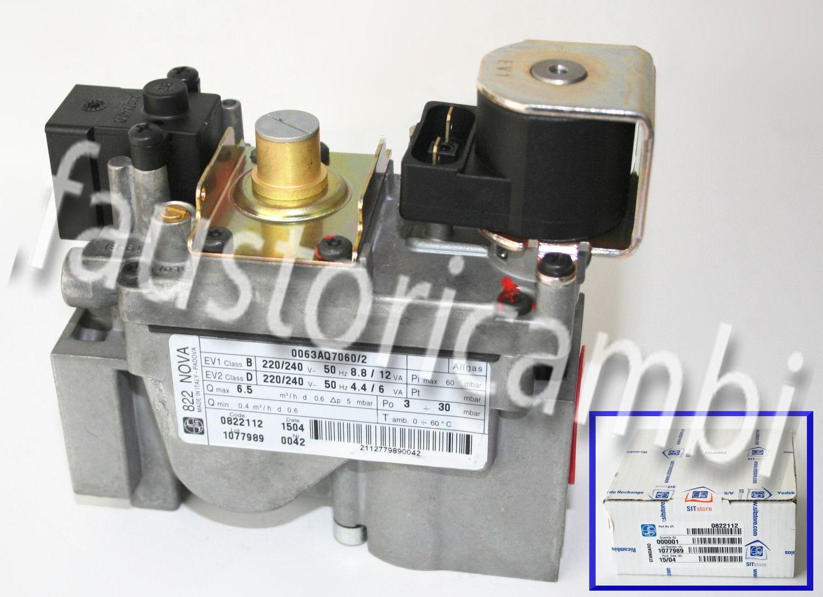 Hamworthy SIT 822 VALVOLA GAS NOVA 533903021 0063AQ7060//2 0822114 1ST CLASSE DEL