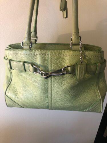 Lime Green Coach Bag 10688