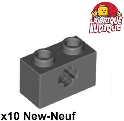 Technic Brick 1x2 Axle Hole NEUF NEW 6 x LEGO 32064 Brique Axe Trou noir