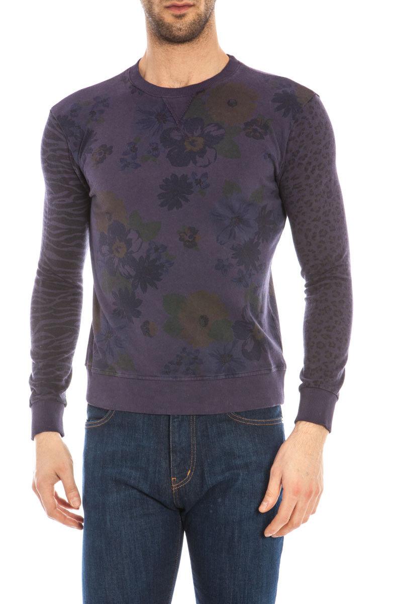 Maglia Daniele Alessandrini Sweater MADE IN ITALY  Herren Viola M5023JF033401 89