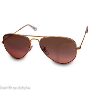 77cb3ea504 Ray Ban RB3025 001 3E Aviator Large Gold Brown-Pink Mirror ...