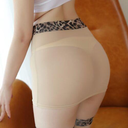 Lady Sheer Micro Skirt Mini Short Party Club See Through Leopard Waist Tight New