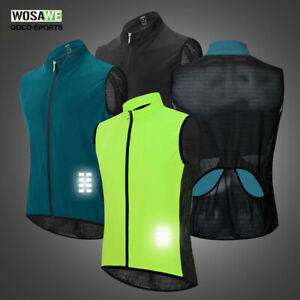 Mens-Cycling-Vest-Reflective-Bicycle-Gilet-MTB-Sleeveless-Bike-Jerseys-Cycle-Top