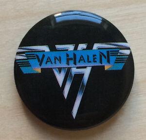 Vintage-1978-VAN-HALEN-pinback-promo-badge-pin-button-David-Lee-Roth-1st-album