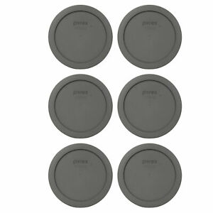 Pyrex 7201-PC Puddle Gray Plastic Storage Replacement Lid Cover (6-Pack)