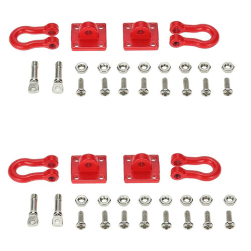 D90 4Pcs 1//10 Scale RC Tow Shackles Replacement Parts for  Trx-4 Axial SCX10