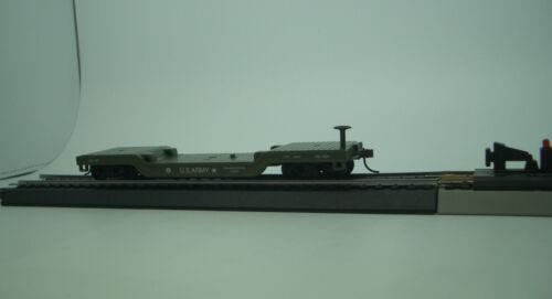 HO 40/' US ARMY  CENTER  DEPRESSED METAL FLAT CAR  MODEL POWER #982202 US ARMY