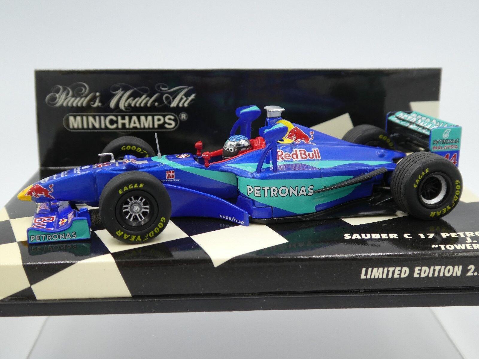 Minichamps 1 43 JEAN ALESI SAUBER PETRONAS C17  TOWER WING  F1 1998