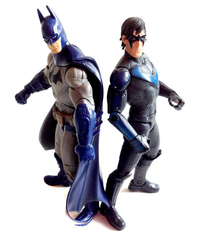 DC Comics Universe  ARKHAM CITY BATMAN & NIGHTWING toy 6  figures, robin RARE