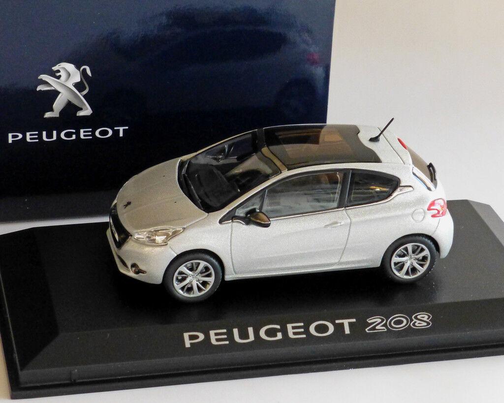 Peugeot 208 argent métallisé, 1 43, Norev