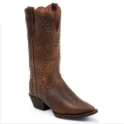 Justin Ladies Ladies Ladies Tan Vintage Buffalo Boots L2700 NIB 376cb4