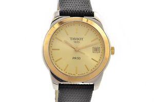 Vintage-Tissot-1853-PR50-Stainless-Steel-Quartz-Mens-Watch-1256