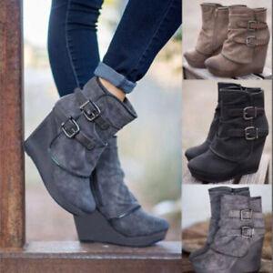 Platform-Wedges-Punk-Boots-Ladies-Winter-Snow-Shoes-Women-Ankle-Boots-High-Heel
