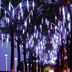 50cm-320-LED-Lights-Meteor-Shower-Rain-8-Tube-Xmas-Snowfall-Tree-Outdoor-Light-H