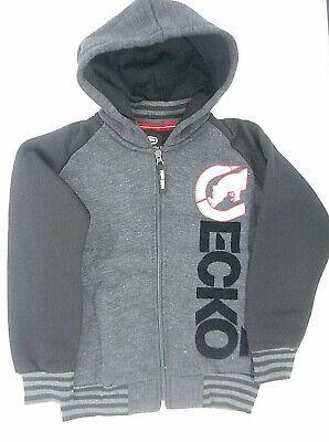 Boys Ecko Unltd $44 Black//Gray Hooded Medium Weight Jacket Sizes 8-14//16