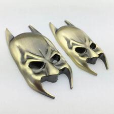 2x Metal Chrome Batman Mask Logo Badge Car Trunk Bronze Emblem Decal Stickers
