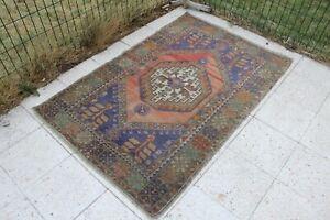 Vintage-Handmade-Turkish-Office-Oushak-Rug-5-039-3-034-x3-039-5-034
