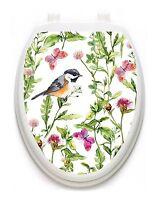 Toilet Tattoos Robin In The Garden Lid Cover Decor Reusable Vinyl 1129
