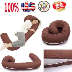 US Soft C Shape Total Body Pillow Body Pregnancy Maternity Pillow Cushion Sleep