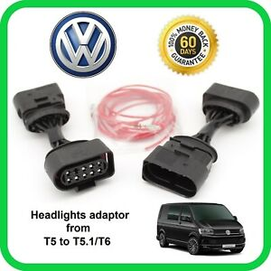 Transporter-T5-To-T5-1-T6-Facelift-Headlight-Adaptor-Harness-Upgrade-Conversion
