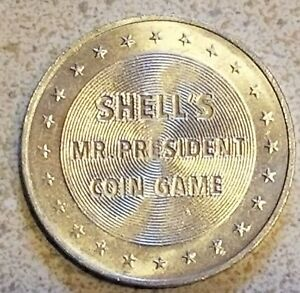 President Coin Game Tokens 30 1968 Shell/'s Gasoline Station  Mr