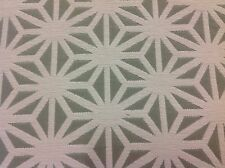 ARC COM Stain Resist Geometric Upholstery Fabric- Kirigami/Fog 5.75yd AC-60318-1