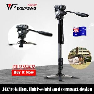 Camera-Monopod-Tripod-Unipod-Fluid-Head-Holder-Travel-DSLR-Camcorder-Video-DV-OZ