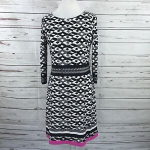 f42caa92e660 Eliza J Women's Dress Size 8 Black Pink Gray Geometric A-Line NWT ...