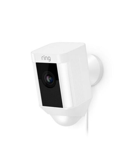 White Ring Spotlight Cam Wired Security Camera 8SH1P7-WEN0 Brand New