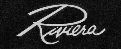 NEW 1963-1965 Black Floor mats Buick Riviera embroidered logo silver set of 4