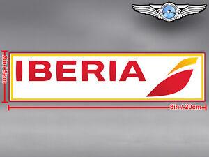 IBERIA NEW RECTANGULAR LOGO DECAL / STICKER
