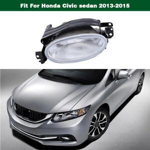 Right Front Bumper fog driving lights lamp for Honda Civic sedan 2013-2015