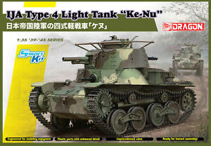 "Dragon 1:3 5 6854: Solid IJA Type Light Tank "" Ke-Nu """