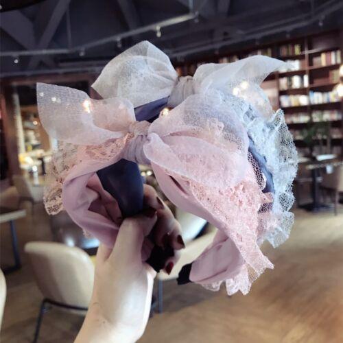 Sweet Korean Princess Hairband Lace bandeau large cheveux Bandeau Accessoires coiffure