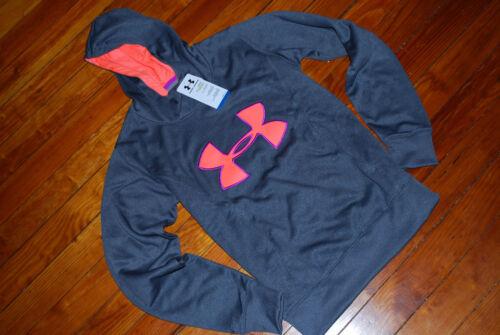 Pink cappuccio S Sweatshirt con Coldgear Grigio Felpa Under Armour M L xs Neon ROn04p