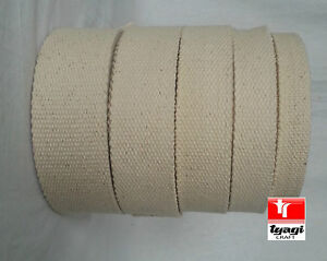 "25mm 1/"" Natural //Beige 100/% Cotton CANVAS webbing strap tape Upholstery @ 2 Yard"