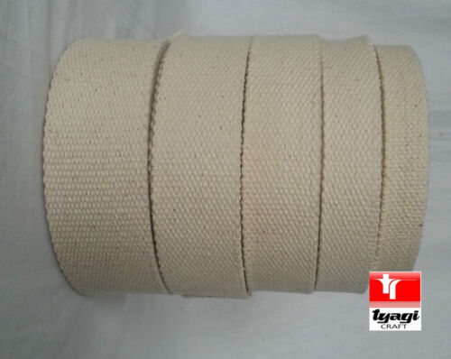 2.5 INCH 62mm Canvas Natural 100/% Cotton Webbing Belt Fabric Strap Bag Making