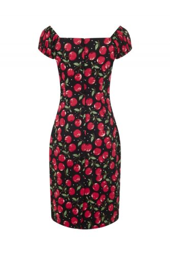 14 10 Collectif Dress 8 Pencil Rockabilly Dolores 50s Cherry Wiggle B8wzqB