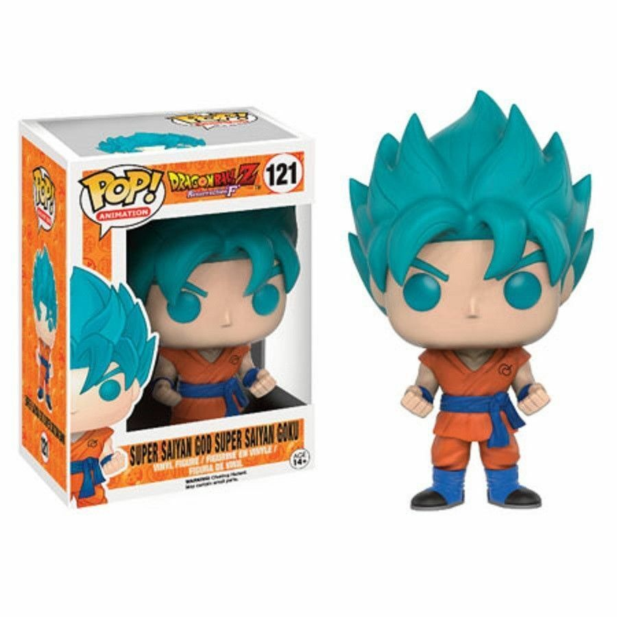 Dragon Ball Z Super Saiyan God Goku blue 9.5cm Pop Vinyle Figurine Funko 121