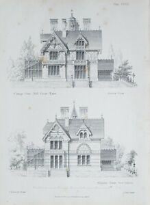 1868-Architektonisch-Aufdruck-Huette-Orne-Muehle-Gruen-Essex-Alternatice-Design