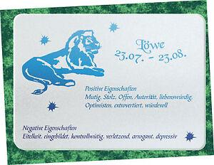 premium Küchen - Schneidebrett Frühstücksbrett Sternzeichen Löwe ...