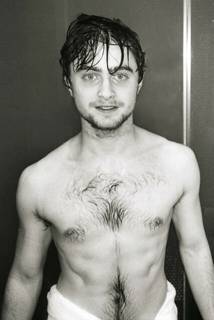 DANIEL RADCLIFFE nude male RARE PHOTO beefcake Gay interest  BUY 2, GET 1 FREE
