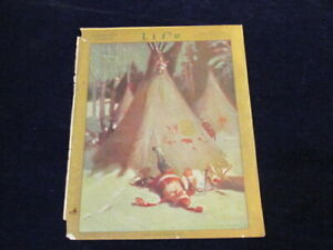 Vintage-Original-1912-Life-Magazine-COVER-Santa-Falling-Down-Indian-Teepee-Q277