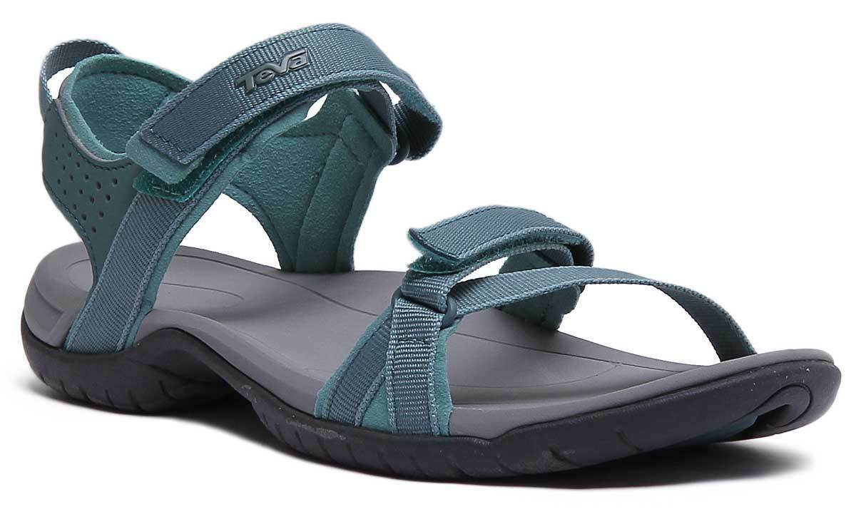 Teva Verra femmes North Atlantic Turquoise Fabric Strappy Sandals UK Taille 3 - 8