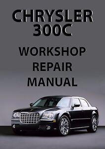 chrysler 300c workshop manual 2005 ebay rh ebay ie chrysler 300c service manual chrysler 300c service manual pdf