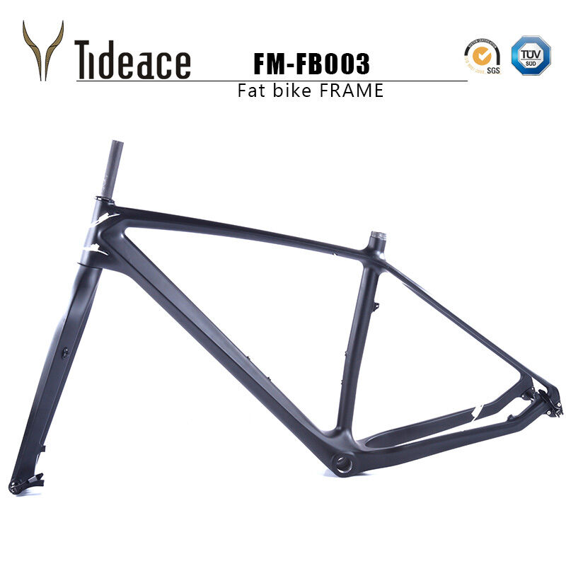 26er Carbon Fat Bike Frame Snow Bicycle Frames Thru Axle 16 18 20''+Fork BSA
