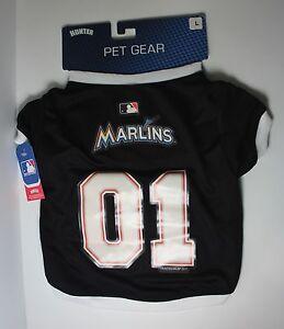 """552b3af0d6a Miami Marlins Dog Pet Jersey Large 16""""-17"""