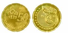 Malaysia 50 cents coin